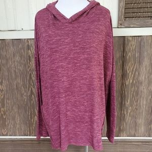American Eagle Soft & Sexy red hooded plush top L
